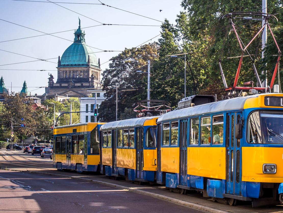 Straßenbahn in Leipzig