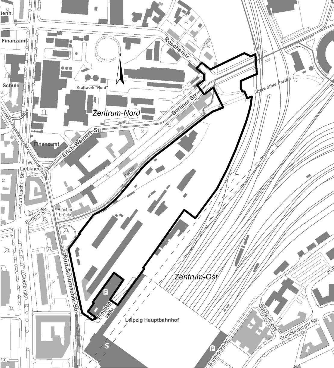 Technische Zeichnung des Planungsgebiets 323.2